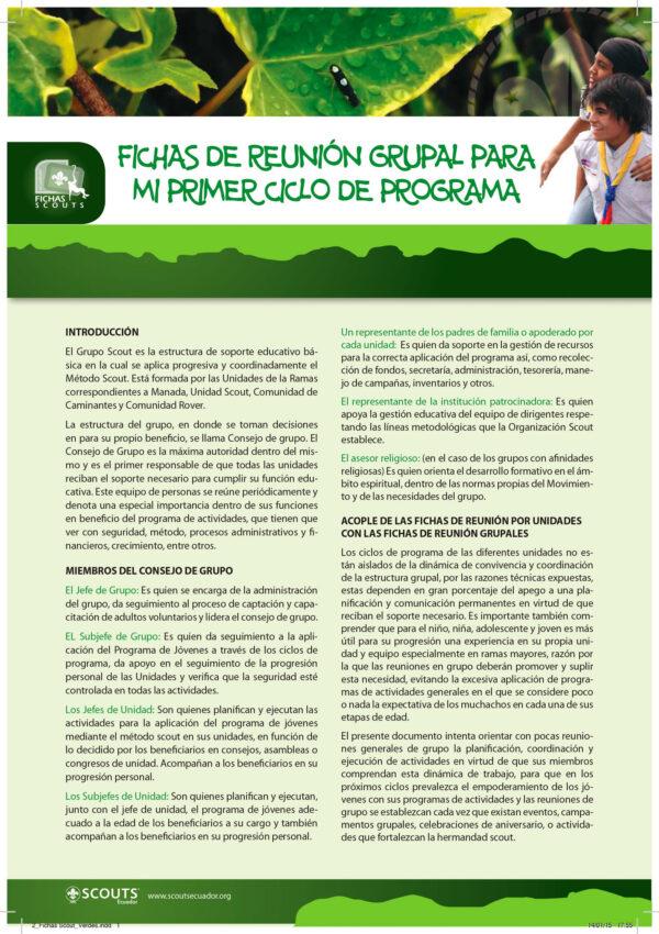 2 Fichas Scout Verdes