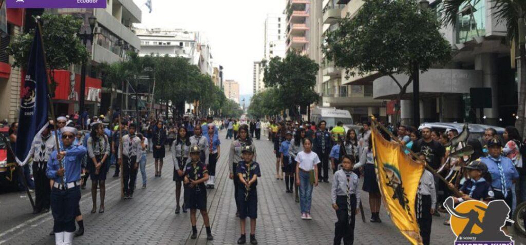 Scouts Ecuador celebra junto a Guayaquil sus 482 años de fundación.