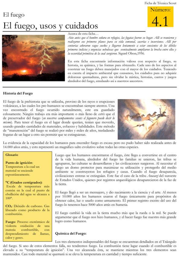 4.1 El fuego usos y cuidados