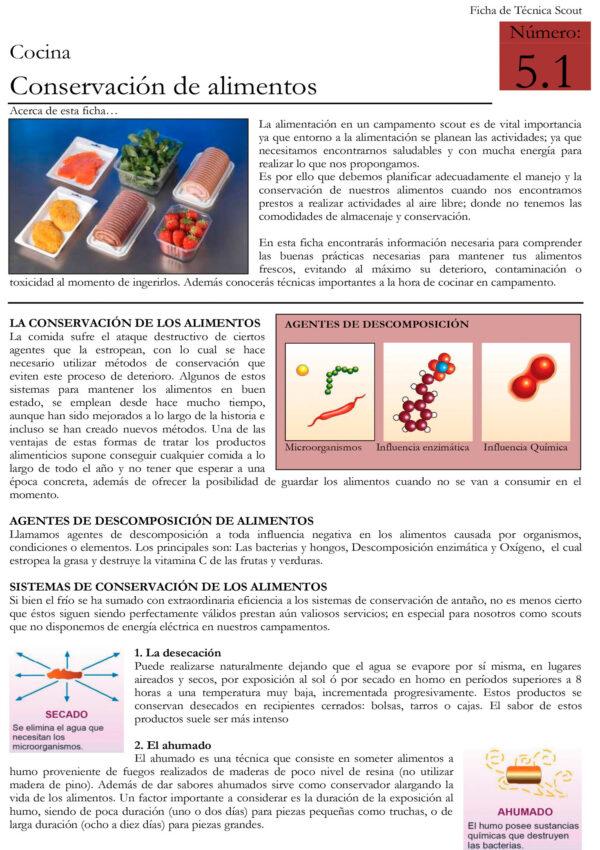 5.1 Conservacion de alimentos y Recetas sencillas