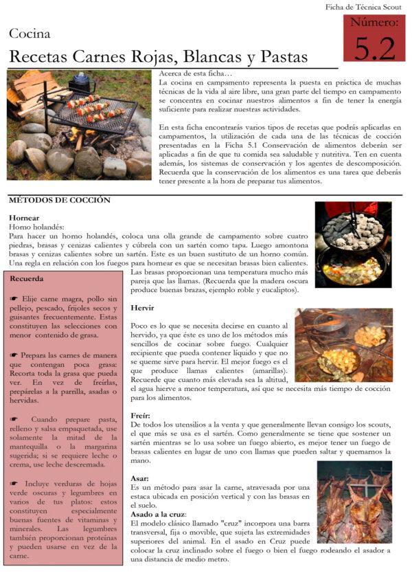 5.2 Recetas Carnes Rojas Blancas y pastas